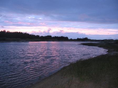 Graerup Fiskesoe am Abend