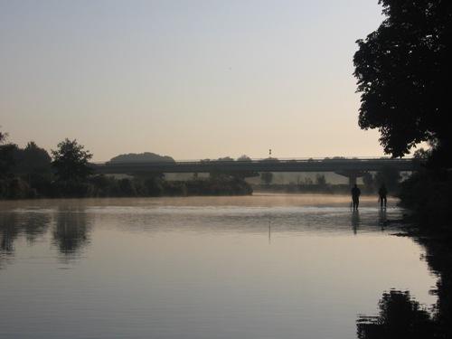 Ruhr in Dortmund am Morgen