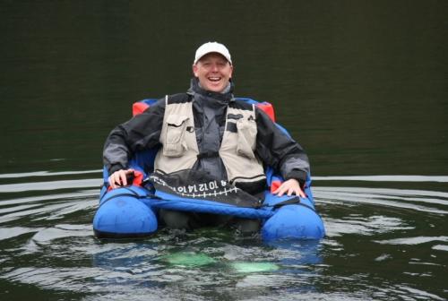 Michael im Belly Boat