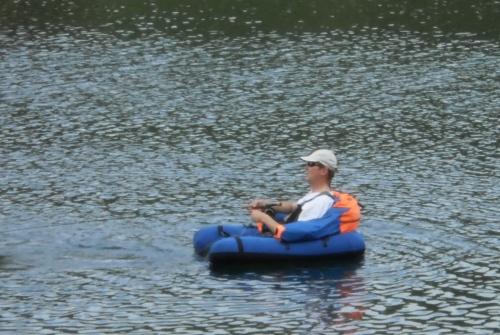 Alexander mit Belly Boat